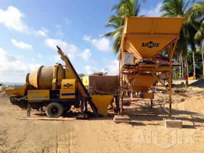 Aimix ABJZ40C Concrete Mixer Pump Is Running well In Indonesia