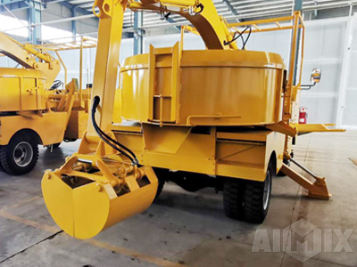 Grab Bucket Mixer Truck