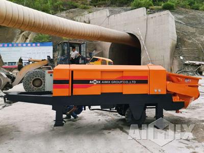 tunnel concrete pump