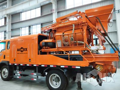 truck mounted concrete mixer truck
