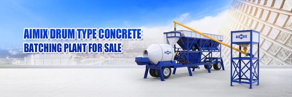 portable concrete batching plant banner