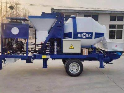 Aimix ABJZ40C Diesel Concrete Mixer Pump Was Sent To East Timor