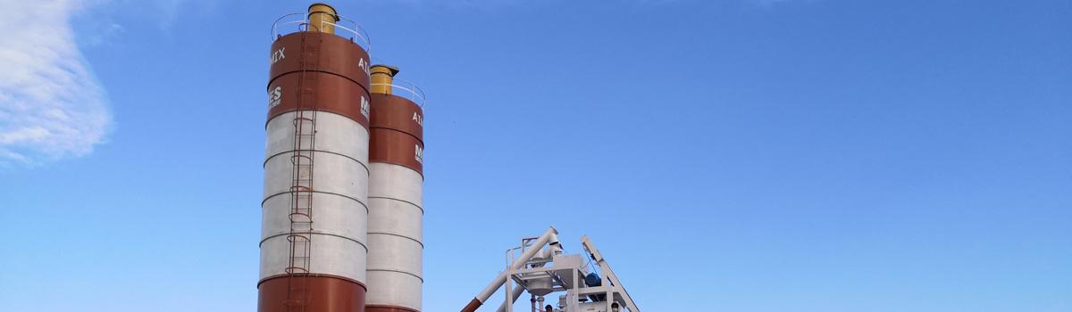 AJ50 concrete batching plant in Pakistan