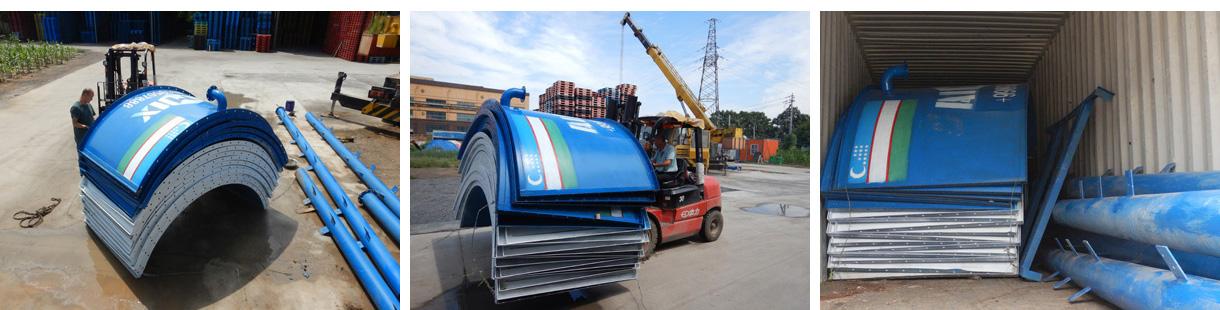 Aimix 100 ton bolted cement silo to Uzbekistan