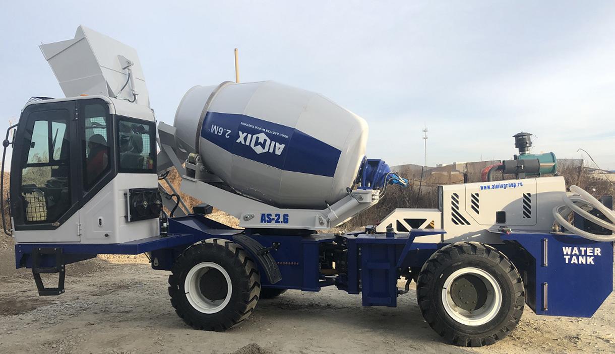 Aimix AS-2.6 Self Loading Concrete Mixer Working In Kazakhstan