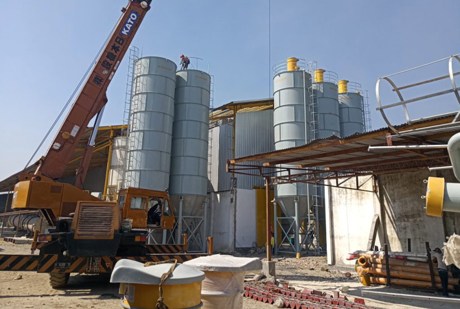 Cement Silo Used In Dry Mortar Mix Plant