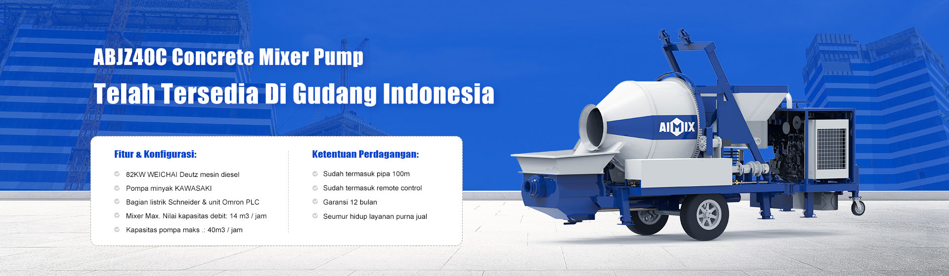 concrete mixer pump indonesia banner