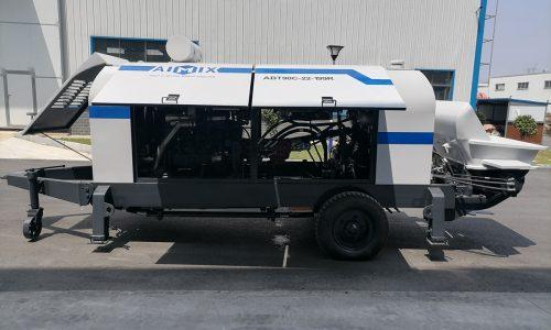 Aimix ABT90C Concrete Trailer Pump Was Exported To Uzbekistan