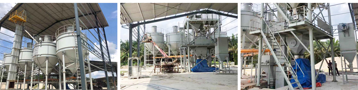 Aimix 10 tph Dry Mortar Plant Was Installed In Malaysia