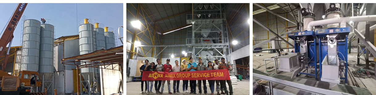 Aimix Dry Mortar Mixing Plant Put Into Use In Indonesia
