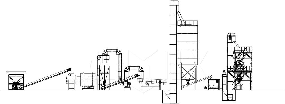 Aimix dry mortar plant drawing