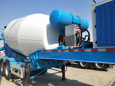 semi trailer concrete mixer truck