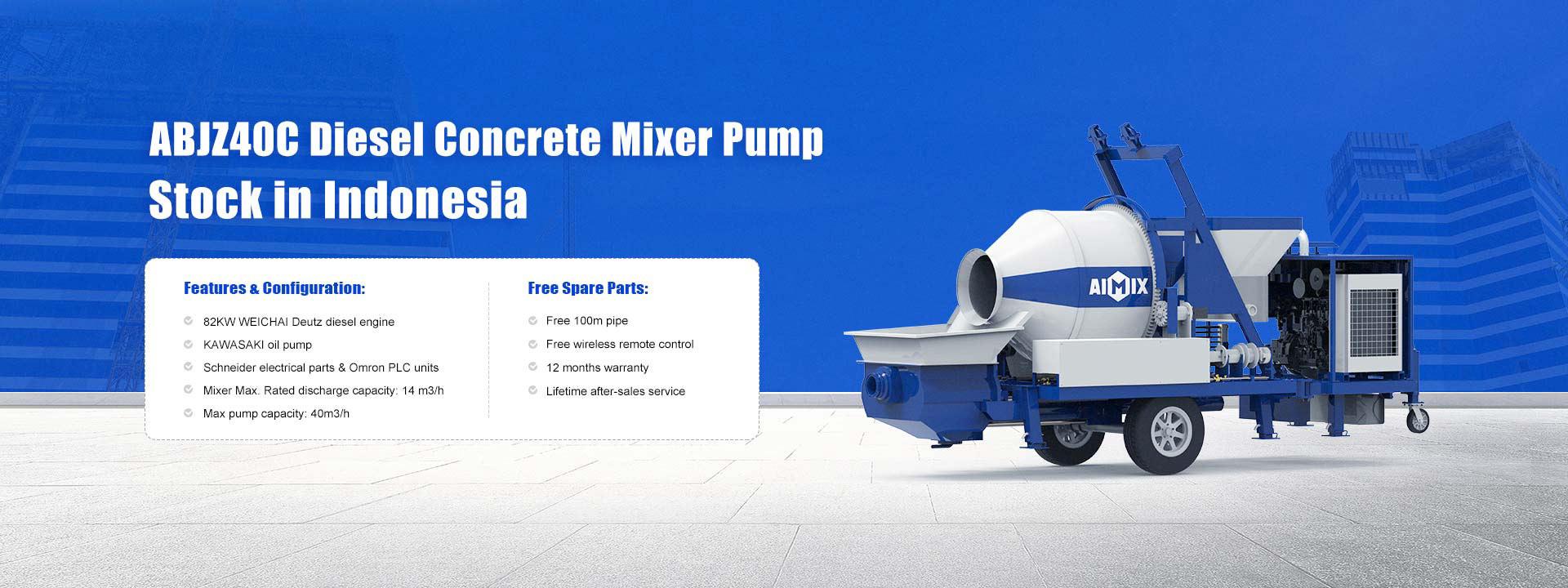 ABJZ40C Concrete Mixer Pump In Stock in Indonesia