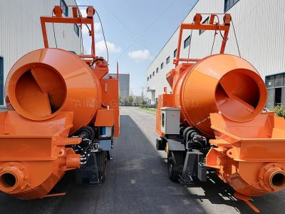 Aimix 2 Sets Of Concrete Mixer Pumps And Wheel Loaders In Nepal