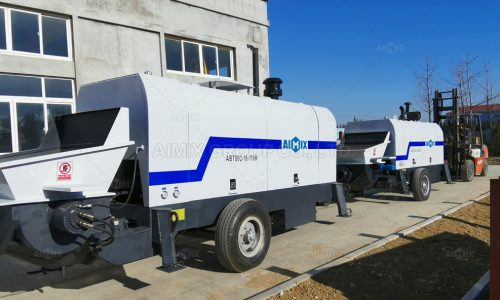 2 Sets of Aimix Diesel Concrete Trailer Pump In Malaysia