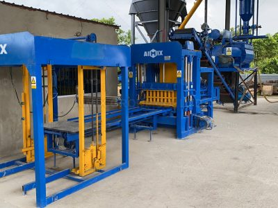 Aimix 4-15 concrete block making machine was used for block production
