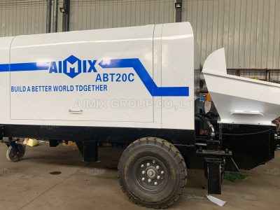 Aimix ABT20C Concrete Trailer Pump Was Shipped To Palembang Indonesia