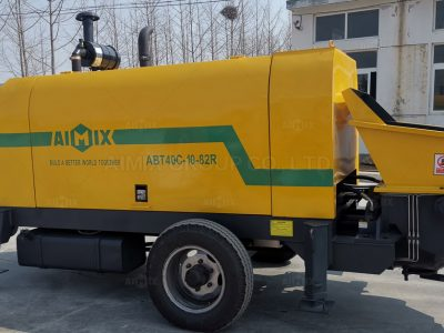Aimix ABT40C Diesel Concrete Trailer Pump Was In Malaysia