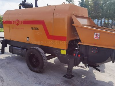 Aimix ABT40C Concrete Trailer Pump Was Shipped To Indonesia