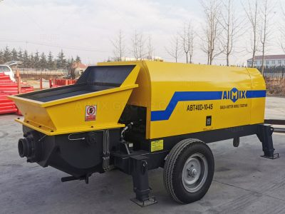 Aimix ABT40D Concrete Trailer Pump Was Shipped To Malaysia
