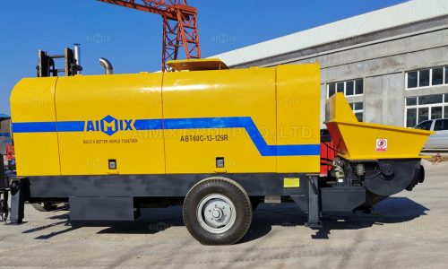 Aimix ABT60C Concrete Trailer Pump Was Delivered To Malaysia