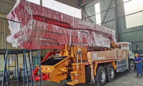 Our Second Hand Concrete Boom Pump Was Transported to Horgos in Serbia