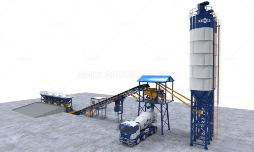 Aimix AJG60 Dry Type Concrete Batching Plant To Guyana
