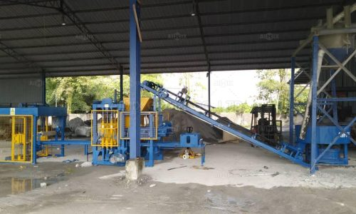 Aimix ABM4S Concrete Block Machine Was Put Into Production In Malaysia